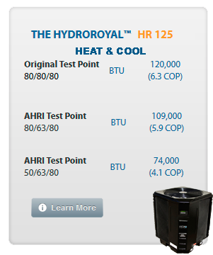 Hydro Royal 125 RA Heat and Cool