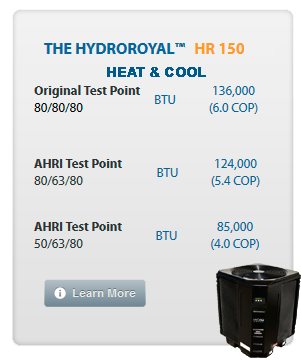 Hydro Royal 150 RA Heat and Cool